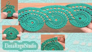 Crochet Lace Patterns Урок 9 часть 1 из 2 Ленточное кружево