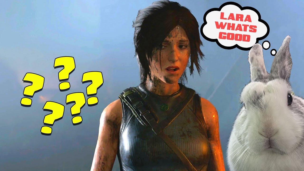 """LARA CROFT IS _______?""  * Shadow of the TOMB RAIDER!! *"