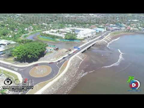 NEW VAISIGANO BRIDGE APIA SAMOA -VIDEO - 17/Sept/2020.