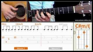 Jouer Shape of my heart (Sting) - Cours guitare. Tuto + Tab
