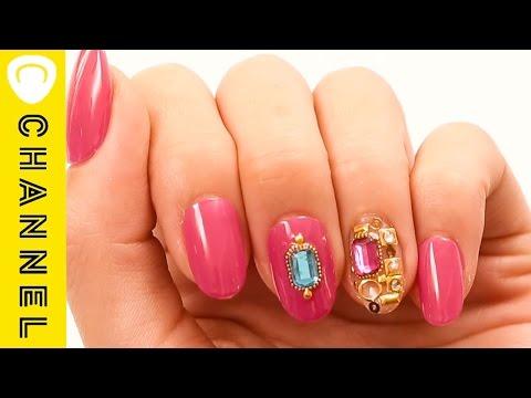 カラーストーンネイル │ Jewelry Nails
