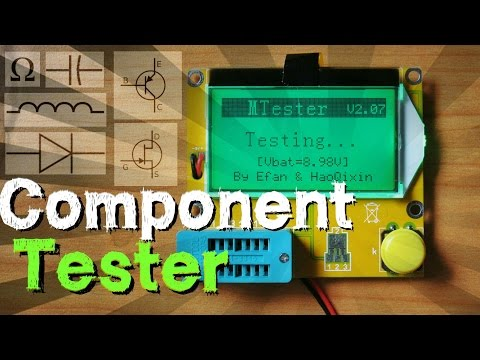 Test Any Electronic Component Values With Electronic Component Tester !