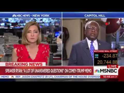 Clyburn interview with Chris Jansing on MSNBC on 05-17-17