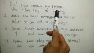 Download Video Belajar bahasa inggris, Latihan menterjemahkan bahasa indonesia ke bahasa inggris MP3 3GP MP4
