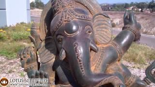 Stone Garden Dancing Ganesha Hindu God Statue