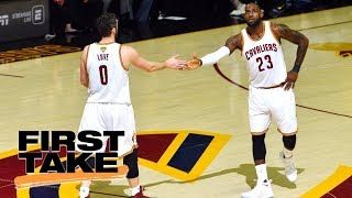 Stephen A. Smith reacts to LeBron James telling Kevin Love about position change | First Take | ESPN thumbnail