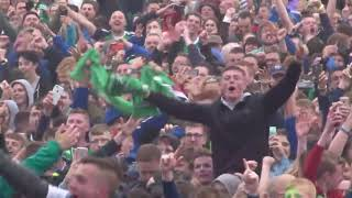 Incredible Atmoshpere ! Northern Ireland fans singing Sweet Caroline   (EURO 2016)