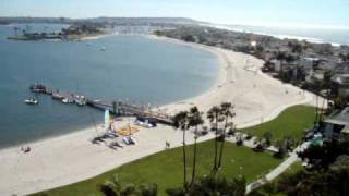 The Catamaran Hotel and views of Mission Beach / Mission Bay