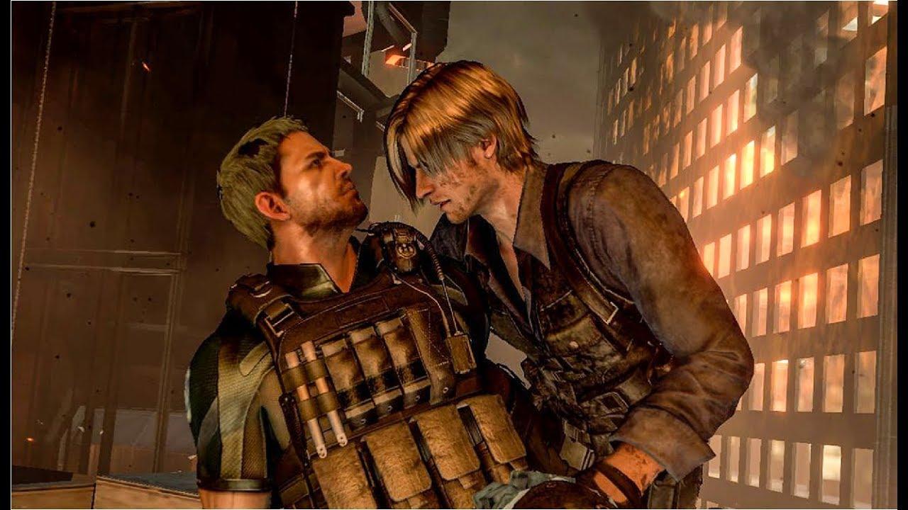 Leon Vs Chris Fighting Because Of Ada Wong Cutscene Resident Evil 6 60ᶠᵖˢ ᴴᴰ Youtube