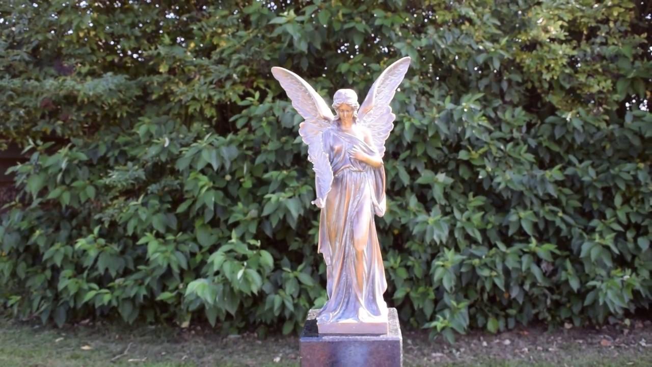 Tuinbeelden Brons Tuin : Tuinbeeld engel brons bronzen beelden winkel youtube