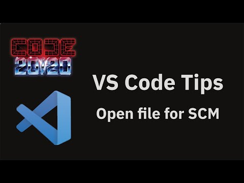 Open file for SCM