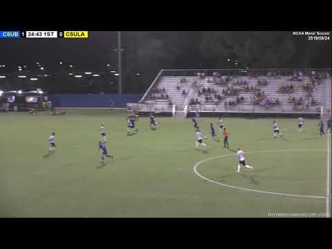 20190824 NCAA Mens Soccer - CSU Bakersfield V CSU LA Highlights