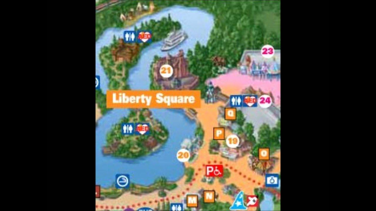 Liberty square Disney World Interactive Map YouTube