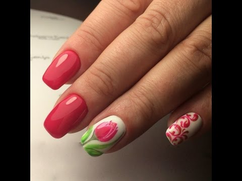 Tulips Nails - Mother's Day Flower Nail Art - YouTube