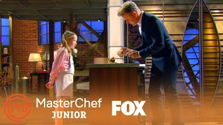 Avery's Unique Burger Tasting | Season 4 Ep. 1 | MASTERCHEF JUNIOR