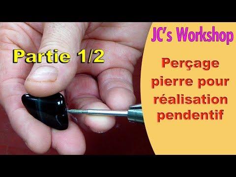 Comment Percer Une Pierre Pour Réalisation De Pendentif - DIY - #66