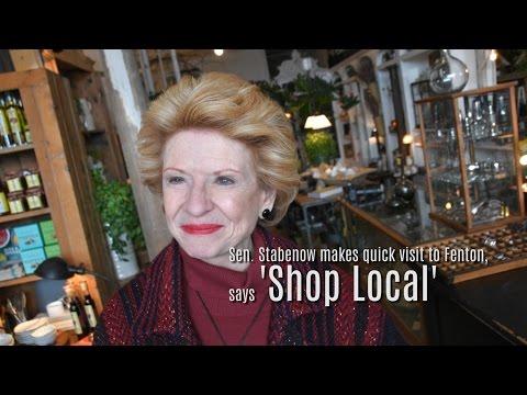 Sen. Debbie Stabenow visits Fenton,  promotes