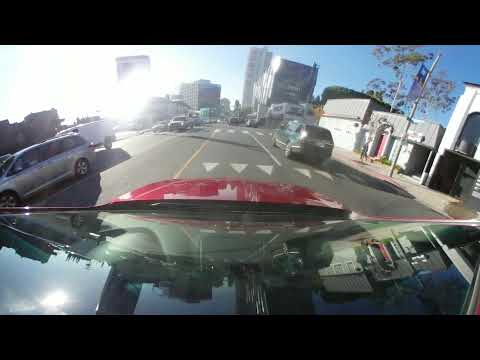 Driving Around Beverly Hills California with 360 Degrees 4k Camera VR 02