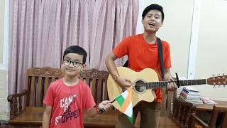 Download lagu TERI MITTI | KESARI | PHOOLON KA TAARON KA | COVER | 8 YEAR KID | INDEPENDENCE DAY | RAKSHA BANDHAN