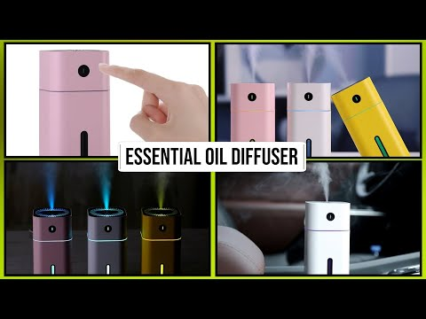 High Quality Ultrasonic Mini Aroma Essential Oil Diffusers With LED Night Lamp