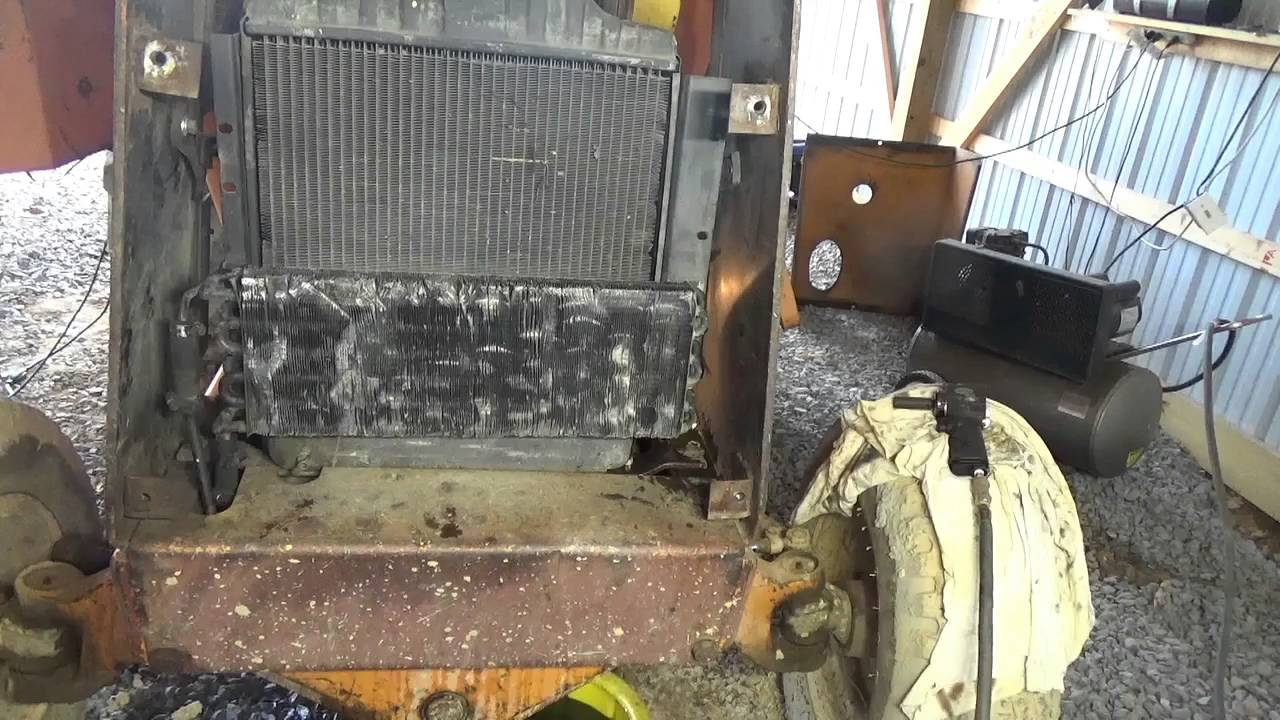 how to put a new radiator in a case 580c backhoe [ 1280 x 720 Pixel ]