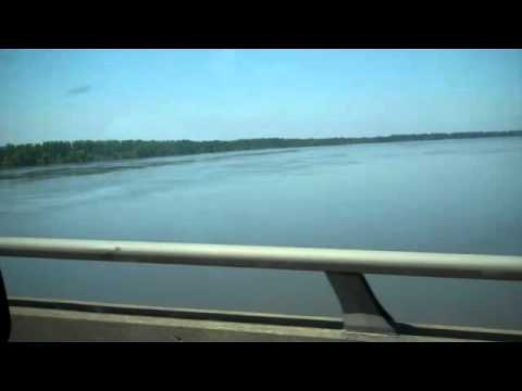 Cairo, IL. Mississippi River Flooding,  I-57 on May 8th 2011