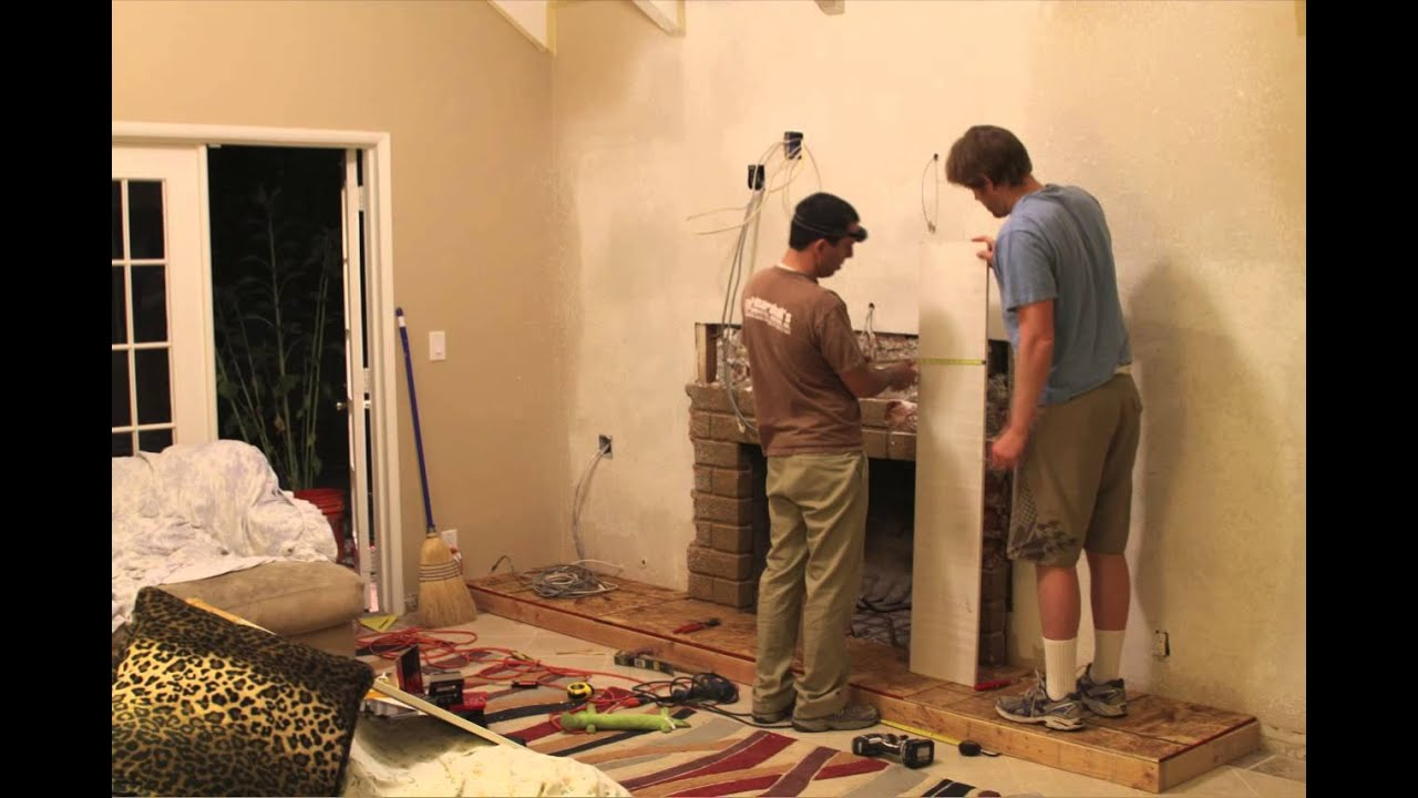 diy brick fireplace overhaul timelapse youtube