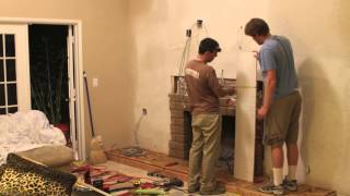 Diy Brick Fireplace Overhaul (timelapse)