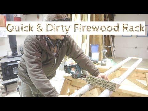 Quick DIY Firewood Rack