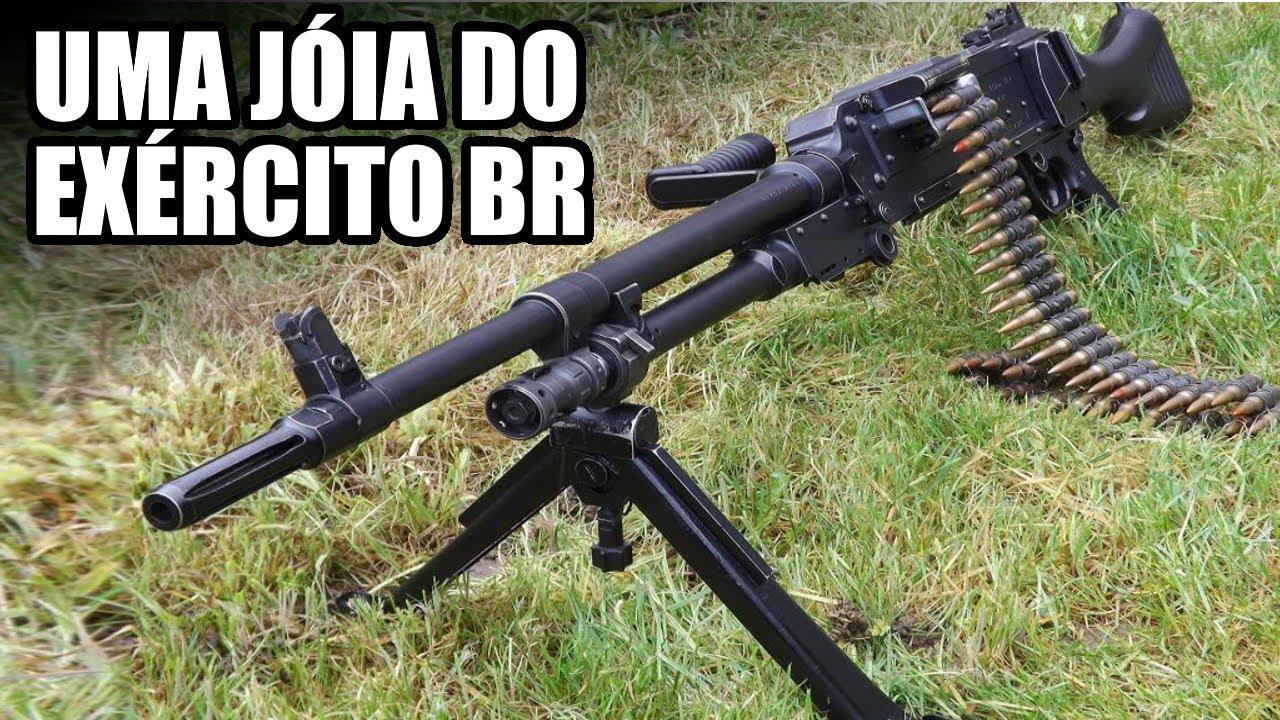 A metralhadora FN MAG / M240 e seu funcionamento interno.