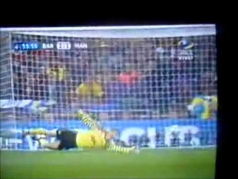 gol de messi en la final de la champions league 2011 ( 2- 1 ) parcial