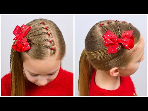 2-cute-&-easy-hairstyles-with-pigtails-and-elastics-|-hairstyles-for-girls-|-littlegirlhair