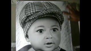 Desenho realista de criança
