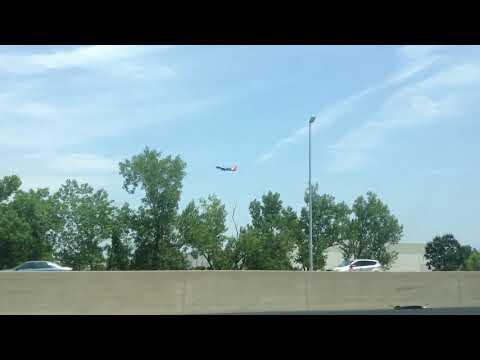 Southwest Airlines landing at St. Louis Lambert International Airport