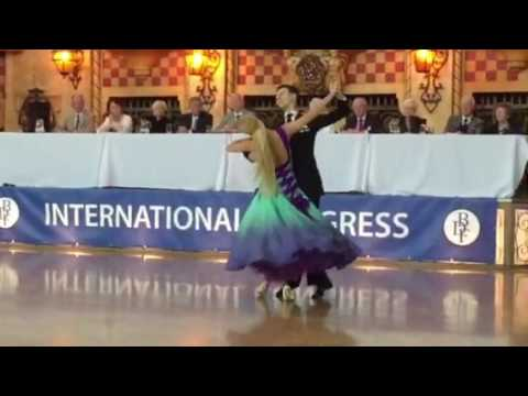 Arunas Bizokas and Katusha Demidova Foxtrot International Congress Blackpool
