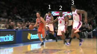 Steve Nash outruns the Knicks, gets assisted by Marcin Gortat