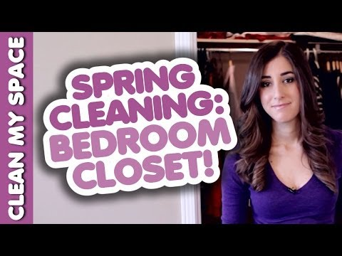 HOW TO CLEAN YOUR BEDROOM CLOSET! Quick & Easy Closet Cleaning Ideas (Clean My Space)