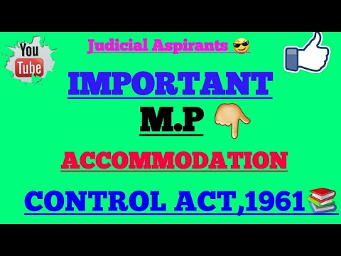 Mp Accommodation Control Act 1961 Pdf