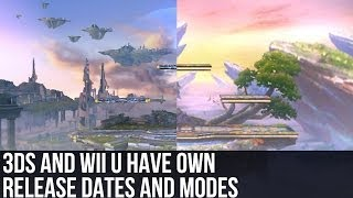 Super Smash Bros. Wii U/3DS - 3DS and Wii U have own release dates and modes