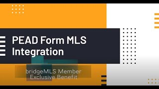 PEAD Form MLS Integration Instructions