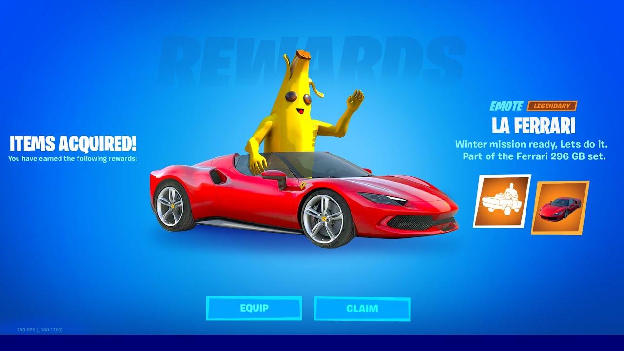 Fortnite Ferrari Free Emote (CLAIM NOW)