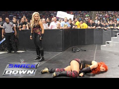 Natalya attacks Becky Lynch: SmackDown, July 7, 2016