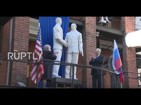 Russia: Reagan-Gorbachev sculpture unveiled ahead of Putin-T