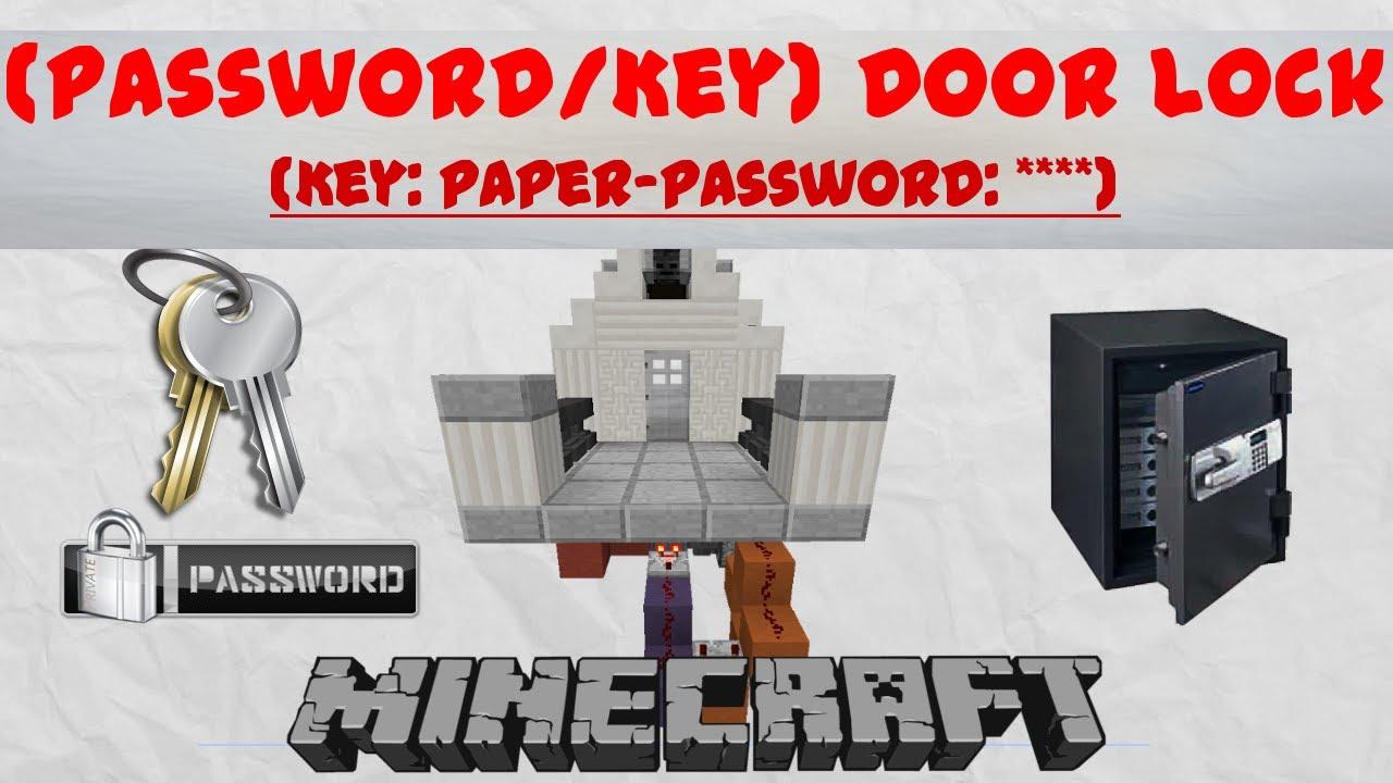 Minecraft Password   Key- Door Lock   1 7 #V2
