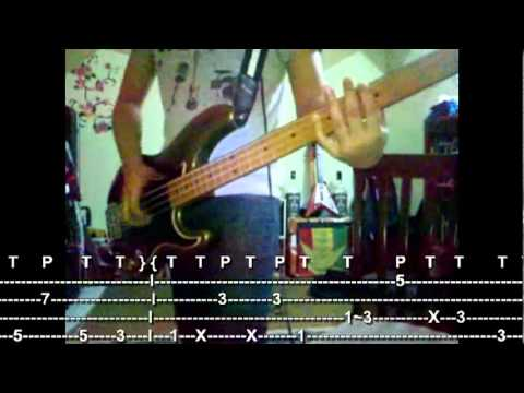 TELL ME BABY bass cover w/tab