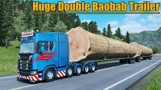 ✅ Euro Truck Simulator 2 - HUGE Double Baobab Trailer 116 Tons