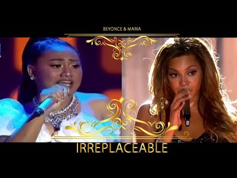 Irreplaceable - Queen Beyonce Feat. Princess Maria Indonesian Idol  (Live)