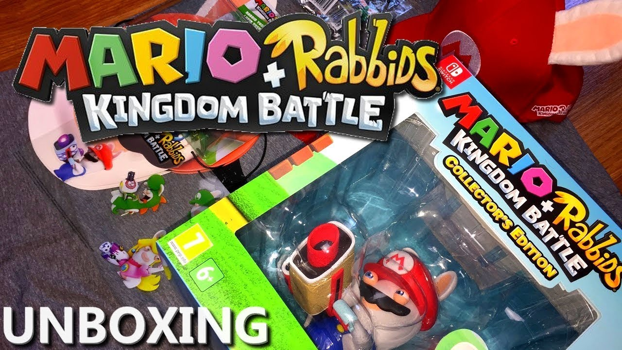 Mario + Rabbids: Kingdom Battle – Unboxing PL (Edycja Kolekcjonerska na Switcha + press kit)