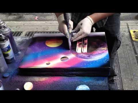 Sprey boya ile resim çizimi -2-