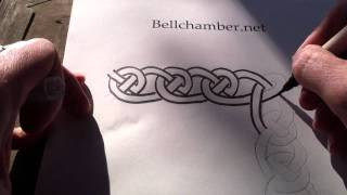How To Draw Celtic Knots 8 - Border Triskele Durrow - 2/2